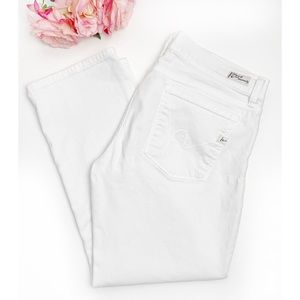 CITIZENS OF HUMANITY Kelly White Cropped Jeans 31